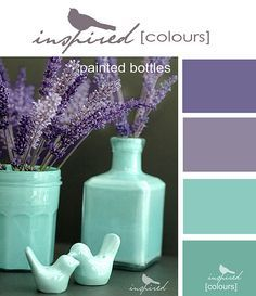 Succulents color palette (green, purple, turquoise) http ...