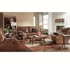 Whether reclining for an afternoon nap or hosting movie night complete with popcorn and sodas, this bonded leather Dakota collection has everything you need from consoles with cup holders and storage bins to full chaises on the recliners.  Plush is taken to a whole new level with double tufted pillow backs, deep seating and full cushioned chaises on all reclining pieces. You could sit for hours in this 1.8 density foam that exceeds industry standards and is found throughout this collection…