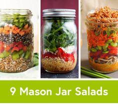 9 Mason Jar Salad Recipes for Healthy Lunch Ideas