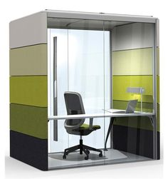 Telephone booth, modern office desk, mini office, office fit out, offic Modern Office Desk, Office Fit Out, Mini Office, Small Office, Box Office, Office Spaces, Work Spaces, Office Ideas, New Furniture