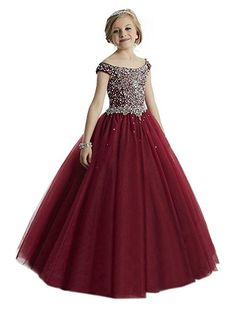 online shopping for HuaMei Girls Princess Tulle Beaded Straps Ball Gowns Flower Girl Pageant Dresses from top store. See new offer for HuaMei Girls Princess Tulle Beaded Straps Ball Gowns Flower Girl Pageant Dresses Glitz Pageant Dresses, Little Girl Pageant Dresses, Gowns For Girls, Girls Formal Dresses, Flower Girl Dresses, Flower Girls, Girls Party Dresses, Prom Dresses For Kids, Dresses Short