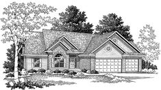 Ranch House Plan with 1907 Square Feet and 3 Bedrooms(s) from Dream Home Source | House Plan Code DHSW12009