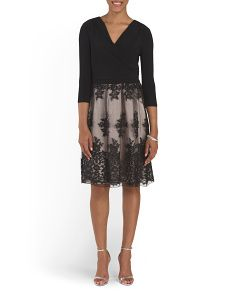 image of Floral Mesh Skirt Dress