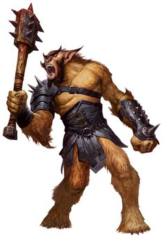 Bugbear (from the D&D fifth edition Monster Manual). Art by Steve Prescott.