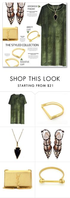 """Velvet Mini Dress & Jewelry from The Styled Collection"" by kellylynne68 ❤ liked on Polyvore featuring Valentino and Yves Saint Laurent"