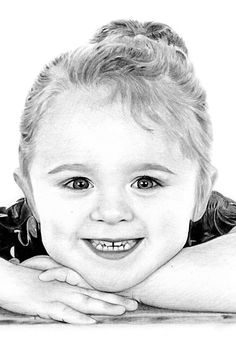 Hand-drawn pencil portrait drawings of girls from photographs. Upload a photo online to order a pencil portrait from a photograph. MCB Pencil Portraits   mcbportraits.uk