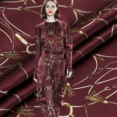 2019 nowy łańcuch cyfrowy obraz stretch satyna jedwabna do sukni koszula bazin riche getzner telas por metra tissu tissus Victorian, Dresses, Fashion, Fabrics, Gowns, Moda, Fashion Styles, Dress, Vestidos
