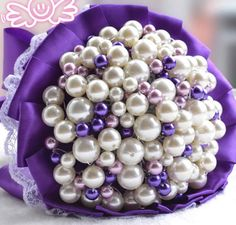>> Click to Buy << Beautiful Artificial White Pearl Wedding bouquet pearl Wedding Accessories Bridal Bouquets FW136 #Affiliate
