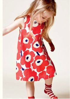 Marimmeko Marimekko Dress, Toddler Girl Dresses, Girls Dresses, Nice Dresses, Kids Prints, Kid Styles, Kids Wear, Retro Fashion, Kids Fashion