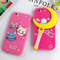 Fashion Sailor Moon Silicon Case Cute Beautiful Phone Case Cover For iphone 6 6s Plus 5 5s SE Back Cover For iphone 6S Capa Bag