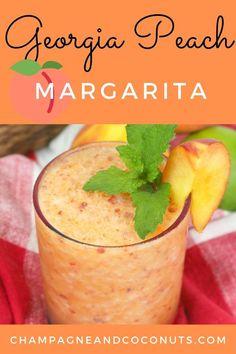 Summer Drinks, Fun Drinks, Mixed Drinks, Vodka Drinks, Summer Cocktails, Cocktail Drinks, Peach Margarita Recipes, Margarita Tequila, Alcohol Drink Recipes
