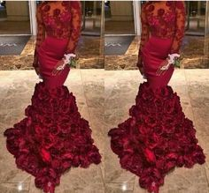 Find More Prom Dresses Information about Tight Prom Dress Mermaid Long Sleeves Organza Flower Red Prom Dresses Court Train Vestido De Festa A Line Lace Robe De Soiree,High Quality dress lace sleeves,China lace sleeve dress Suppliers, Cheap lace korea from dream dress house on Aliexpress.com