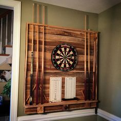 Dart Board Pool Cue Rack                                                                                                                                                                                 More