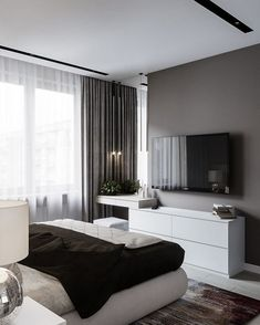 60 best master bedroom ideas that you'll fall in love with it 51 is part of Interior design bedroom - 60 best master bedroom ideas that you'll fall in love with it 51 Related Tv In Bedroom, Large Bedroom, Home Decor Bedroom, Bedroom Ideas, Bedroom Interiors, Master Bedrooms, Modern Bedroom Design, Master Bedroom Design, Modern Design