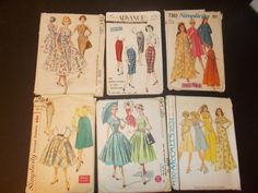 Inventory 83 Vintage Sewing Patterns Lot of 6 by RomanceWriter