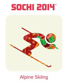 2014 Sochi Winter Olympic Games: Alpine Skiing Pictogram