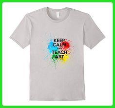Mens Keep Calm And Teach Art T Shirt - Art Teacher Shirt XL Silver - Careers professions shirts (*Amazon Partner-Link)