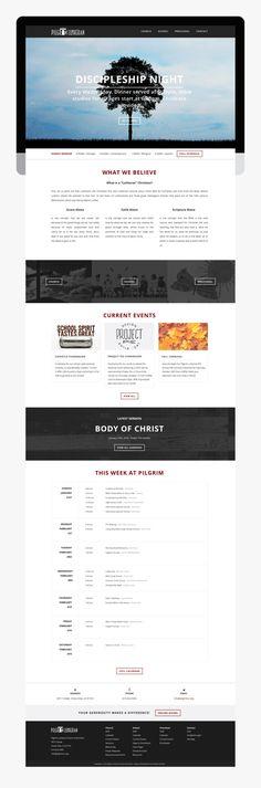 Responsive website design for Pilgrim Lutheran Church and School // Custom theme built on WordPress