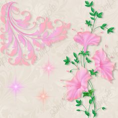 Fantasy Flowers and Friends - $6.99 : Delightful-Doodles Designs!, Baby graphis ,wedding graphics, and printables including bags, purses and boxes for crafters, scrapbookers, candy wrappers and creative folks.