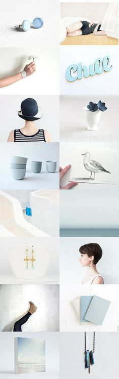 chill :: Treasury by Barbara on - EUR Marine Blue, Womens Fashion Online, Summer Beach, Seaside, Chill, Minimalist, Ocean, Holidays, Gifts