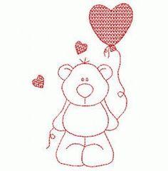 Teddy bear with a balloon