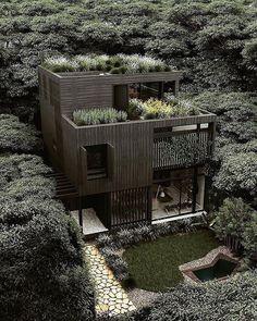 via heavywait - modern design architecture interior design home decor & Beautiful Architecture, Art And Architecture, Dream Home Design, Sustainable Architecture, House Goals, Decor Interior Design, Future House, Instagram, Green Roofs