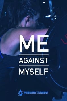 Daily Fitness Motivation: Me agains myself. #fitness #workout #gym #crossfit #fitnessmotivation #workoutmotivation