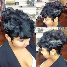 STYLIST FEATURE| This wavy pixie✂️ #mohawk styled by Nakia at @FriendsSalonNola  on @kingxrae is hot So edgy and chic #VoiceOfHair