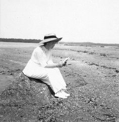 Grand Duchess Olga Nikolaevna of Russia on the beach of the Finnish skerries. Romanov Collection, General Collection, Beinecke Rare Book and Manuscript Library, Yale University.