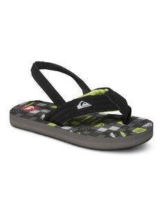 Volcom  Men Sandals Black Vocation Surf Flip Flops Shoes Wide Straps $30
