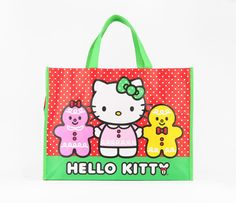 Hello Kitty Shopping Tote Bag: Gingerbread Friends- love the simple gingerbread man shape.  Would be great for the laser