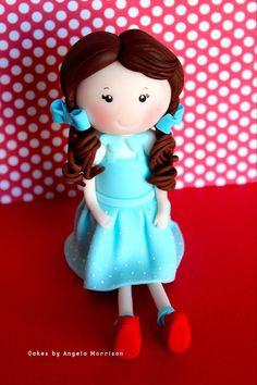 Dorothy cake topper by CakesbyAngela on Etsy