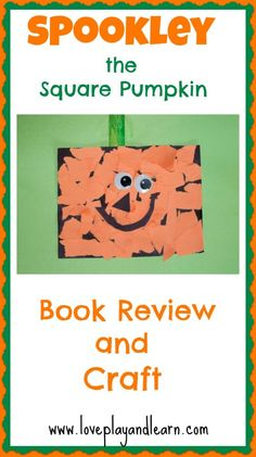 Spookley the Square Pumpkin Book Review and Craft for Kids. So Cute!