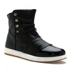 Trendy Rivets and Ruffle Design Boots For Men, BLACK, 44 in Men's Shoes | DressLily.com