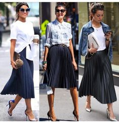 Saia plissada Source by HeatherHaworththt skirt outfit Fashion Mode, Work Fashion, Skirt Fashion, Fashion Looks, Fashion Outfits, Womens Fashion, Emo Fashion, Gothic Fashion, Midi Skirt Outfit