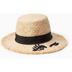 Kate Spade Winking Cloche ($78) ❤ liked on Polyvore featuring accessories, hats, cloche sun hat, kate spade hat, sun hat, cloche hats and beach hat