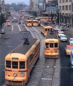 Trams at Ueno, Tokyo, 1967 (via here) Tokyo Streets, City Streets, Oriental Countries, Bay Area Rapid Transit, China Train, Trains, Adirondack Park, Tramway, S Bahn