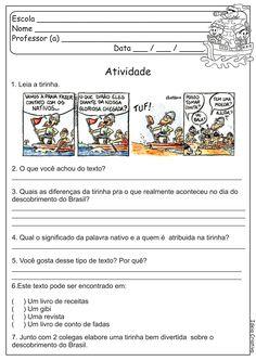 Atividade Quadrinhos/ Charge/ Descobrimento