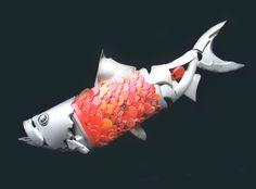 Red Herring - Heh heh heh.Recycled art by Hubcap Creatures