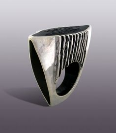 Moshiko (Israel ) - Nigeria Ring - Sterling and Resin