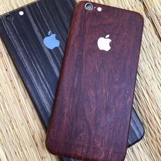 Make your new iPhone 6 stand out from the rest by customizing it with one of these iPhone 6/6+ Mahogany Wood Wraps.