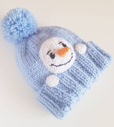 p/snowman-hat-kids-winter-hat-knit-hat-pom-pom-hat-infant-snowman-hat-kids-outfit-frosty-hat-kn delivers online tools that help you to stay in control of your personal information and protect your online privacy. Knitted Hats Kids, Knitting For Kids, Knitting Projects, Baby Knitting, Crochet Hats, Beanie Knitting Patterns Free, Beanie Pattern Free, Free Pattern, Crochet Winter Hats