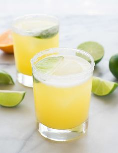 Grab a glass and make the PERFECT Skinny Margarita. With just fresh juice, tequila, and agave, these margaritas have all of the flavor and none of the guilt! @wellplated