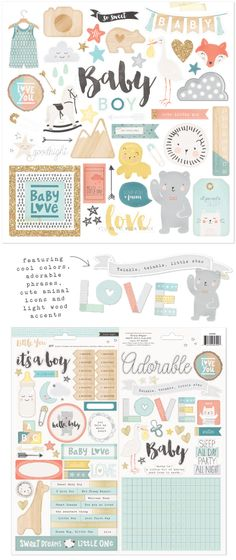 crate paper. so many of these could be other than baby. use the others for cards.