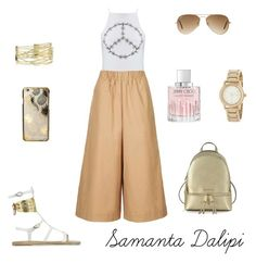 """""""Untitled #238"""" by samantadalipi on Polyvore featuring Ancient Greek Sandals, Michael Kors, Miss Selfridge, Topshop, Skinnydip, Ray-Ban, Jimmy Choo and DKNY"""