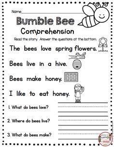 FREEBIE spring writing for kindergarten printables