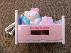 SLEEPING HELLO KITTY ALARM CLOCK RADIO NIGHTLIGHT  snooze GIRLS GIFT CAT EUC  #HELLOKITTY