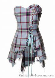 Photo of product 18642: Bella Corset, Made to Order, World Peace Tartan