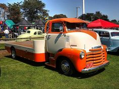 1950 Chevrolet COE truck. I love this color combo