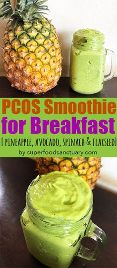 Do you struggle with what to eat for breakfast when you have PCOS? I'm here to. Do you struggle with what to eat for breakfast when you have PCOS? I'm here to help! You can whip up a filling PCOS-friendly breakfast smoothie in seconds! Recipe below. Breakfast Smoothies, Fruit Smoothies, Healthy Smoothies, Healthy Drinks, Healthy Eats, Paleo Breakfast, Pineapple Smoothie Recipes, Ketogenic Breakfast, Detox Breakfast